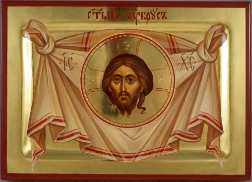 The Holy Face – Mandylion polished gold Hand Painted Orthodox Icon