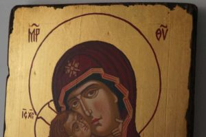 Theotokos of Vladimir Small Hand Painted Orthodox Byzantine Icon