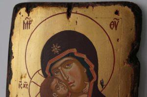 Theotokos of Vladimir Small Hand Painted Orthodox Icon