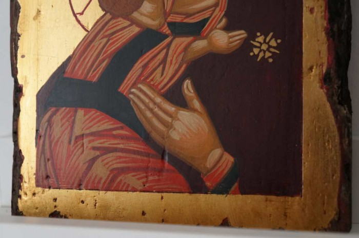 Theotokos of Vladimir Small Hand Painted Orthodox Icon