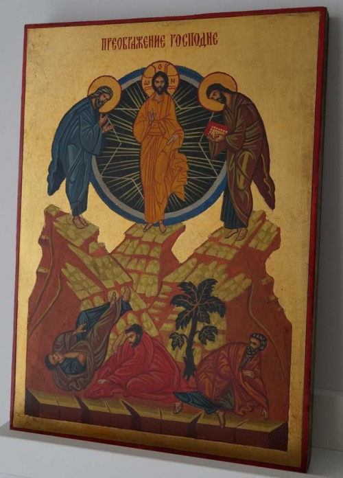 Transfiguration of Christ Hand Painted Orthodox Icon on Wood