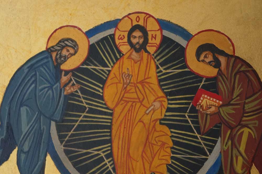 Transfiguration of Christ Hand Painted Orthodox Icon on Wood