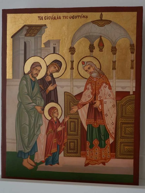 Entrance of the Theotokos into the Temple Hand Painted Orthodox Icon