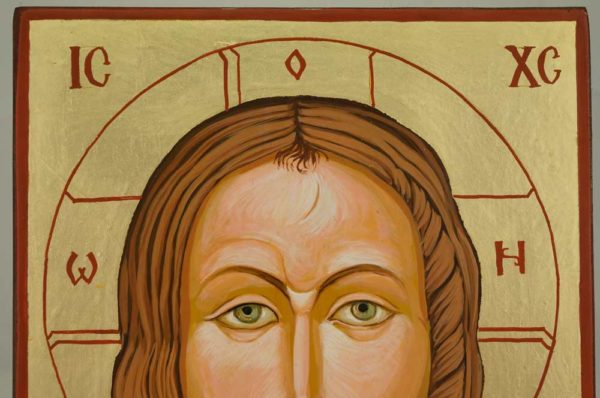 Holy Face Manoppello Hand Painted Orthodox Icon on Wood