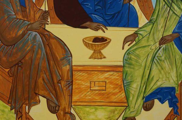 Hospitality of Abraham Rublev Trinity Hand Painted Byzantine Orthodox Icon
