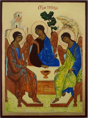 Hospitality of Abraham Rublev Trinity Icon Hand Painted Byzantine Orthodox