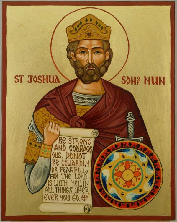 Righteous Joshua the son of Nun Navi Hand Painnted Orthodox Icon on Wood