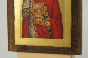 Saint Alexander Nevsky Icon small Hand Painted Byzantine Orthodox