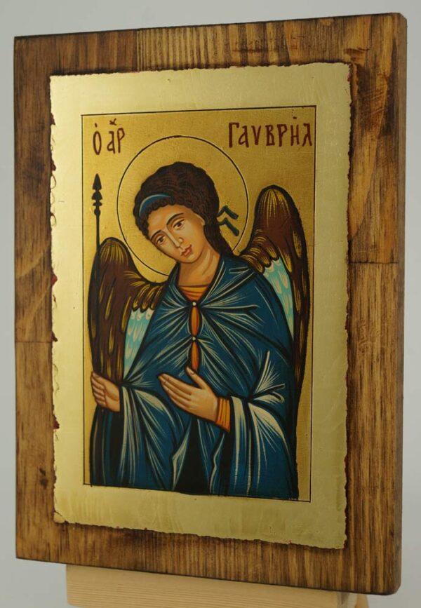 Saint Archangel Gabriel Icon small Hand Painted Byzantine Orthodox