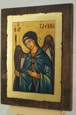 Saint Archangel Gabriel small Hand Painted Icon Orthodox