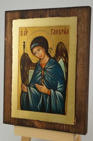 Saint Archangel Gabriel small Icon Hand Painted Byzantine Orthodox