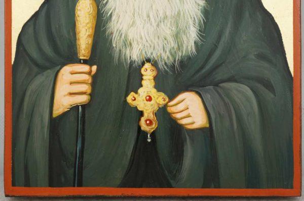 Saint Iakovos of Evia Hand Painted Greek Orthodox Icon