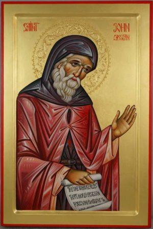 Saint John Cassian Hand Painted Byzantine Orthodox Icon