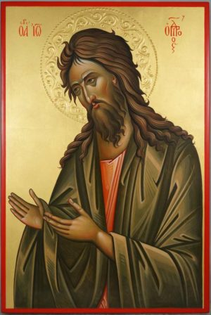 Saint John the Baptist Deesis Hand Painted Orthodox Icon