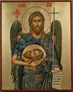 Saint John the Baptist Hand Painted Orthodox Icon
