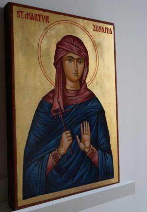 Saint Martyr Zenaida Hand Painted Orthodox Icon on Wood