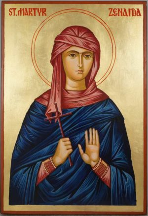 Saint Martyr Zenaida Hand Painted Orthodox Icon on Wood