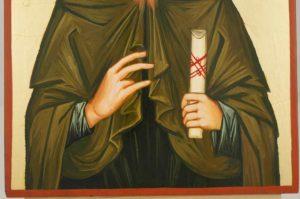 Saint Naum of Ohrid Hand Painted Byzantine Orthodox Icon on Wood
