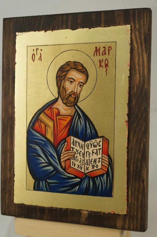 St Mark Apostle and Evangelist small Hand Painted Orthodox Icon on Wood