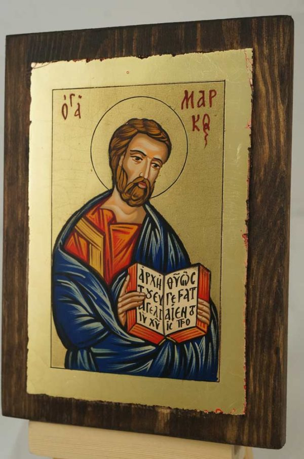 St Mark Apostle and Evangelist small Hand Painted Orthodox Icon on Wood