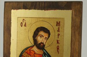 St Mark Apostle and Evangelist small Icon Hand Painted Byzantine Orthodox