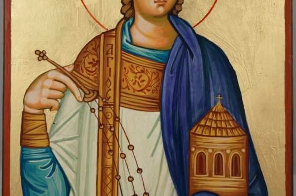 St Stephen Holy Protomartyr Hand Painted Orthodox Icon on Wood