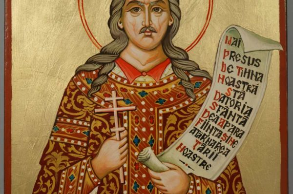 St Stephen the Great of Moldova Hand Painted Orthodox Icon on Wood