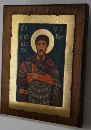 St Theodore Tiron Tyron small Hand Painted Orthodox Icon