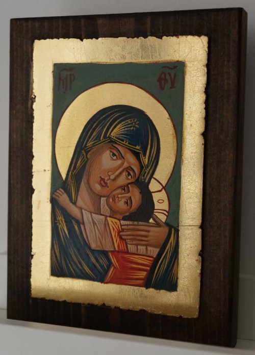 Theotokos Glykophilousa small Hand Painted Orthodox Icon