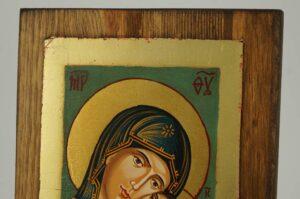 Theotokos Glykophilousa small Icon Hand Painted Byzantine Orthodox