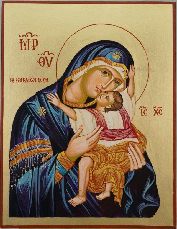 Theotokos Kardiotissa Taylor Hand Painted Orthodox Icon on Wood