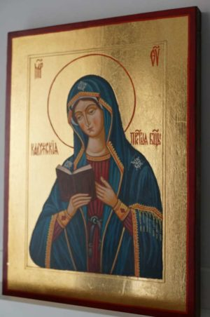 Theotokos of Kaluga Hand Painted Orthodox Icon on Wood