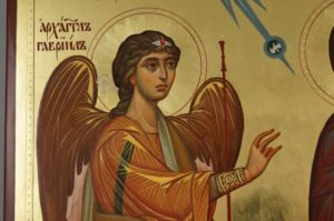 Ustyug Annunciation Hand Painted Russian Orthodox Icon on Wood