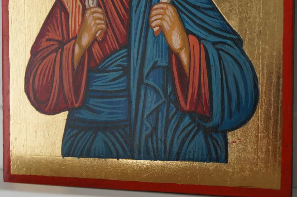 Christ the Good Shepherd small Hand Painted Orthodox Icon on Wood
