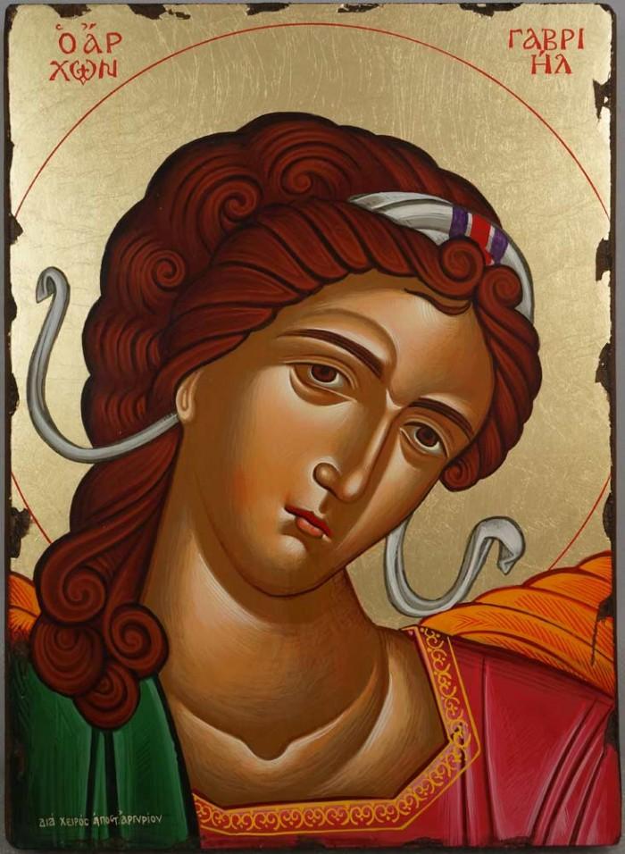 Gabriel the Archangel Hand Painted Greek Orthodox Icon