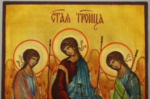 Holy Trinity Andrei Rublev Hand Painted Byzantine Orthodox Icon