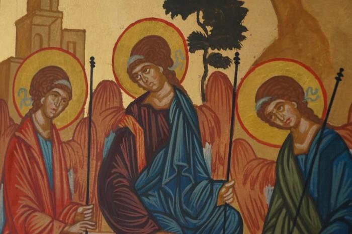 Hospitality of Abraham Rublev Holy Trinity Hand Painted Orthodox Icon
