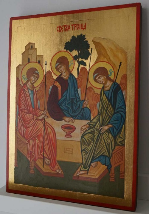 Hospitality of Abraham Rublev Holy Trinity Hand Painted Orthodox Icon
