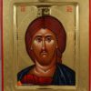 Jesus Christ Pantocrator polished gold Hand Painted Greek Orthodox Icon on Wood