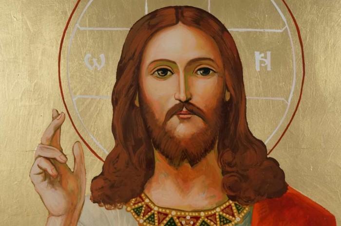 Jesus Christ Sacred Heart cm Hand Painted Roman Catholic Icon