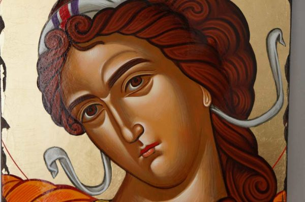 Michael the Archangel Hand Painted Greek Orthodox Icon