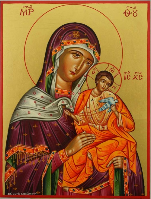 Mother of God Konevskaya Hand Painted Orthodox Icon Byzantine Orthodox