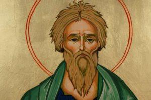 Saint Andrew the Apostle Large Hand Painted Orthodox Icon on Wood