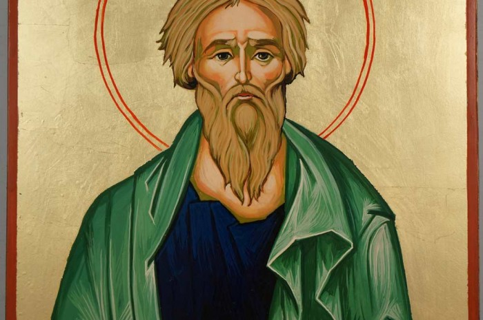 Saint Andrew the Apostle Large Hand Painted Orthodox Icon on Wood