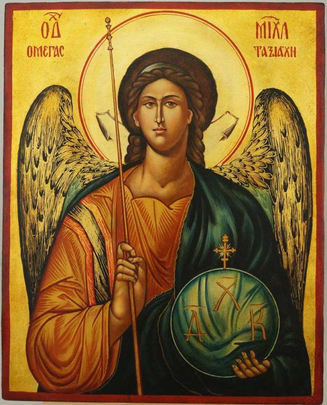 Saint Archangel Michael Hand Painted Byzantine Orthodox Icon