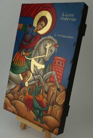 Saint George Victory bearer and Wonderworker Icon Greek Orthodox