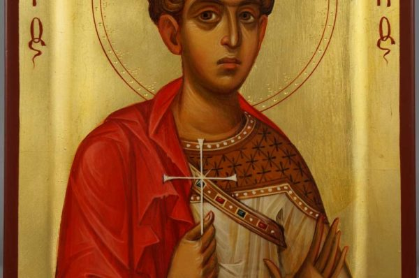 Saint George the Great Martyr Hand Painted Byzantine Orthodox Icon