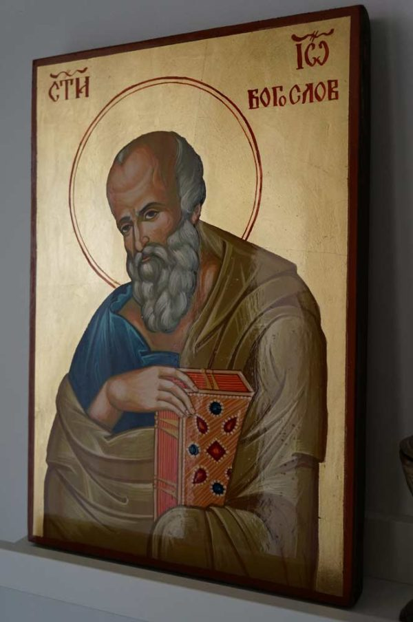 Saint John the Theologian Large Hand Painted Orthodox Icon on Wood