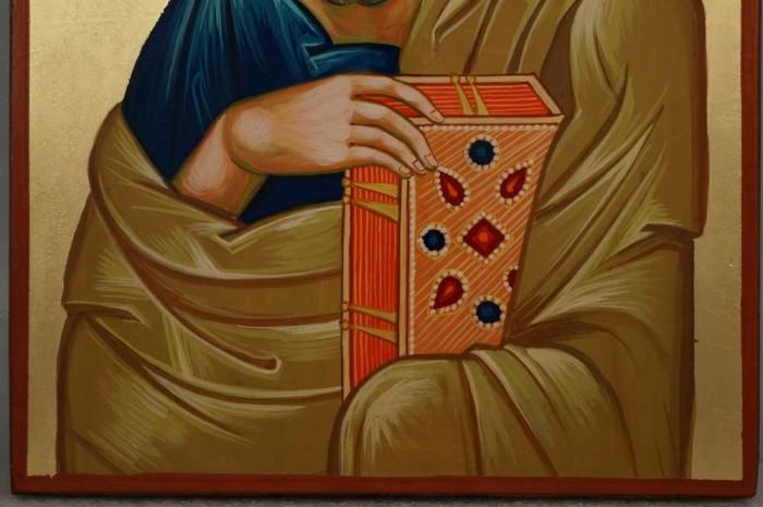 Saint John the Theologian Large Hand Painted Orthodox Icon on Wood