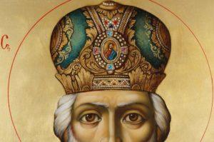 Saint Nicholas Archbishop of Myra Hand Painted Orthodox Icon on Wood